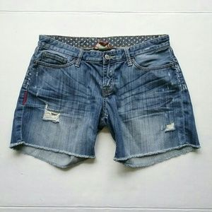 Lucky Brand Shorts - Lucky Brand USA Flag Cut Off Jean Shorts